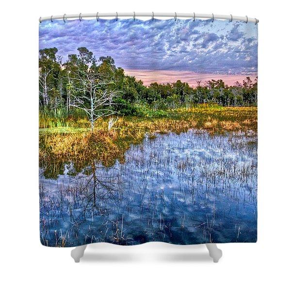 Clouds Underwater Shower Curtain by Debra and Dave Vanderlaan