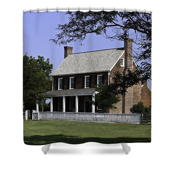 Clover Hill Tavern Appomattox Virginia Shower Curtain by Teresa Mucha