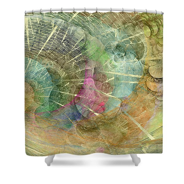 Coastal Cosine Gem Shower Curtain by Betsy C  Knapp