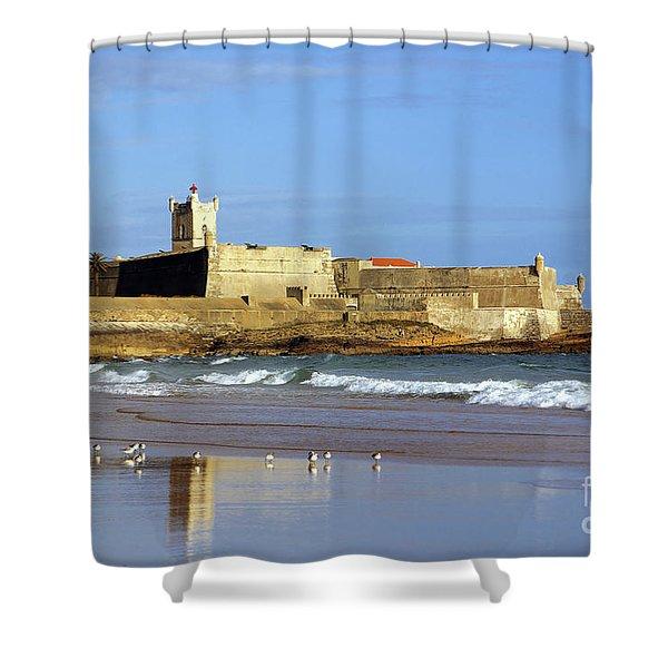 Coastal Defense Shower Curtain by Carlos Caetano