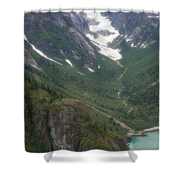Coastal Flow Shower Curtain by Mike Reid
