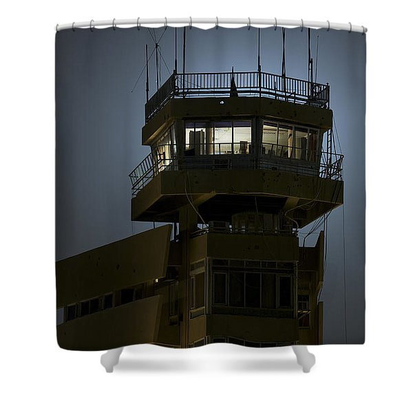 Cob Speicher Control Tower Shower Curtain by Terry Moore