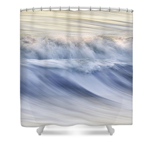 Color Wave IIi Shower Curtain by Rob Travis