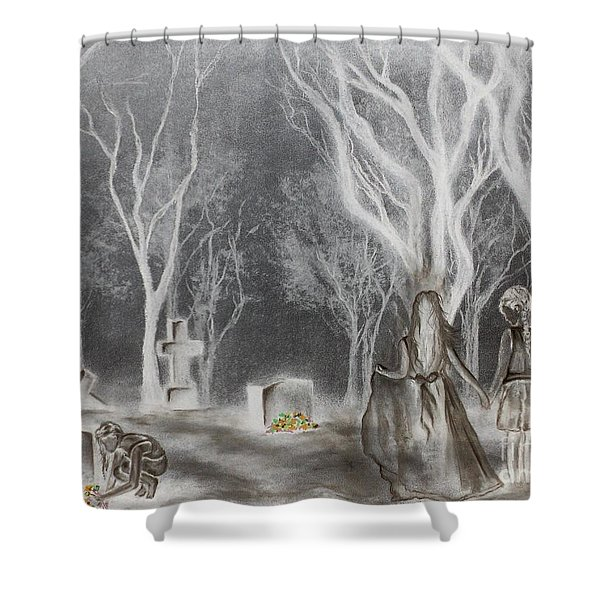 Communion 2 Shower Curtain by Carla Carson