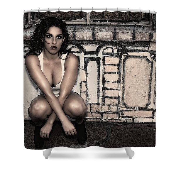 Concrete Velvet 10 Shower Curtain by Donna Blackhall