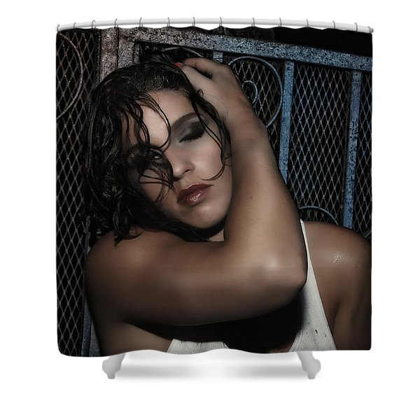Concrete Velvet 20 Shower Curtain by Donna Blackhall