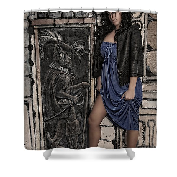 Concrete Velvet 5A Shower Curtain by Donna Blackhall