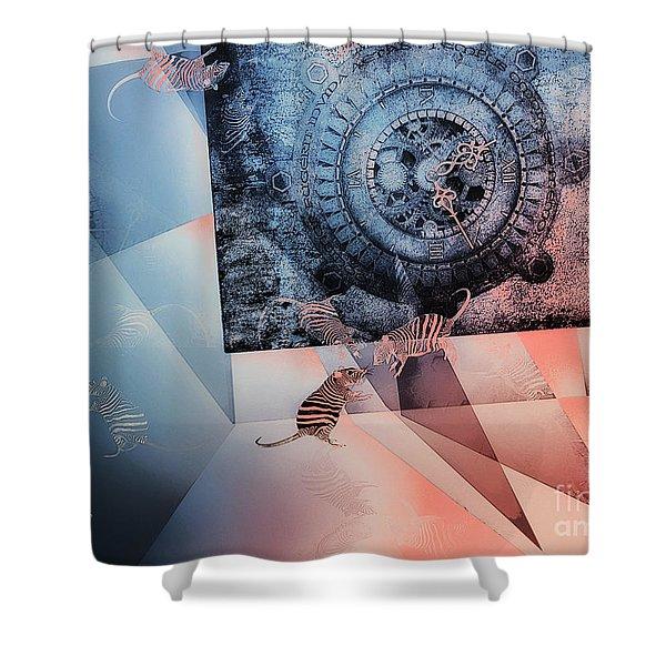 Confusion Shower Curtain by Jutta Maria Pusl