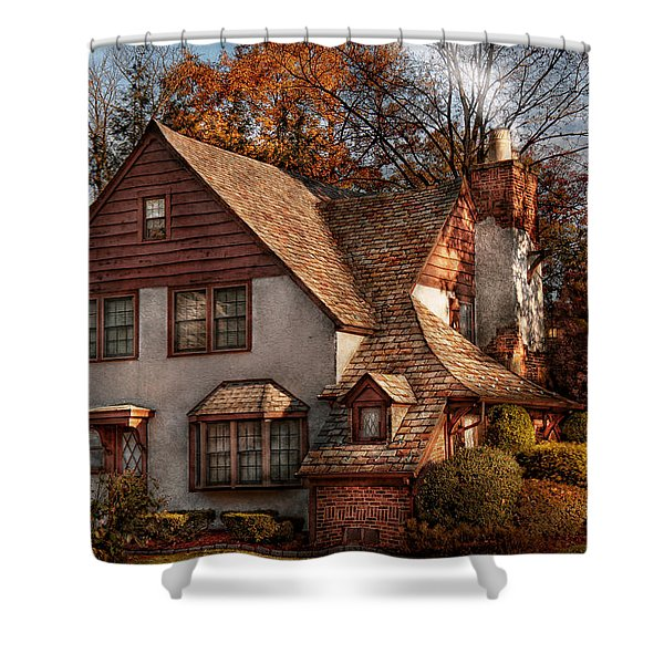 Cottage - Westfield NJ - Family Cottage Shower Curtain by Mike Savad