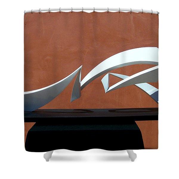 Courtship Of Amphitrite Shower Curtain by John Neumann