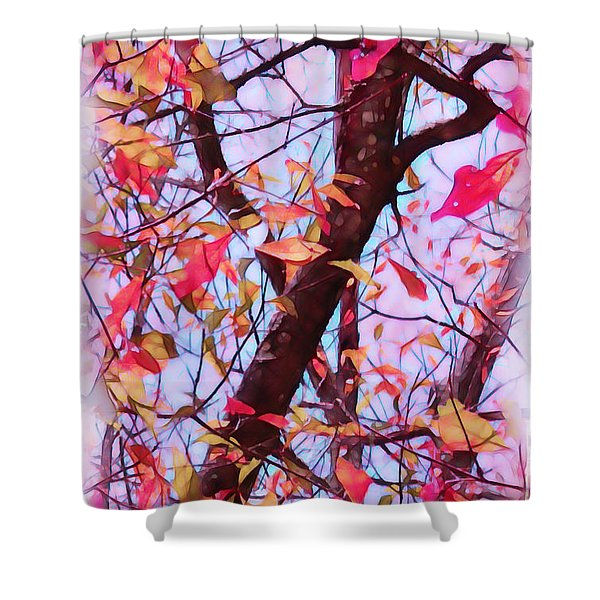 Crisp Autumn Day Shower Curtain by Judi Bagwell