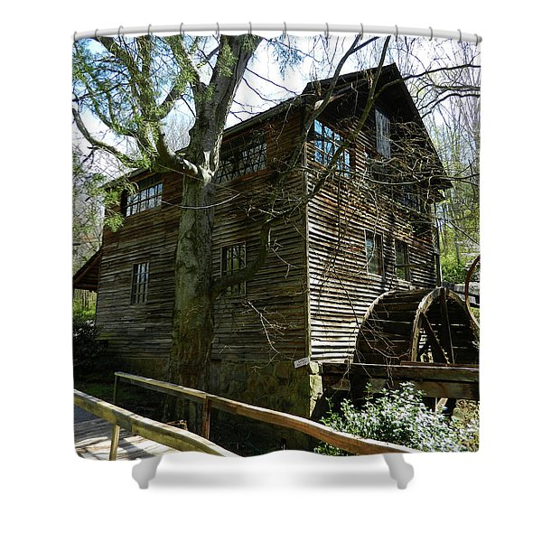 Cross Eyed Cricket Grist Mill Shower Curtain by Paul Mashburn