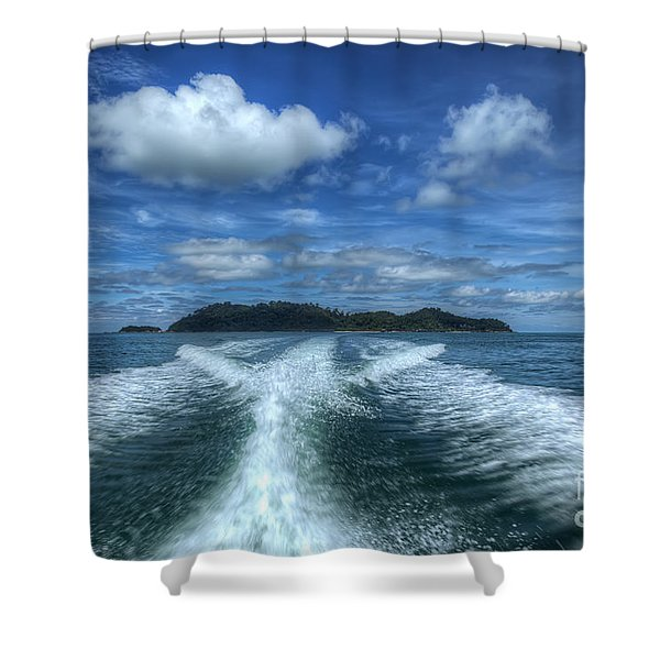 Cruising Shower Curtain by Adrian Evans