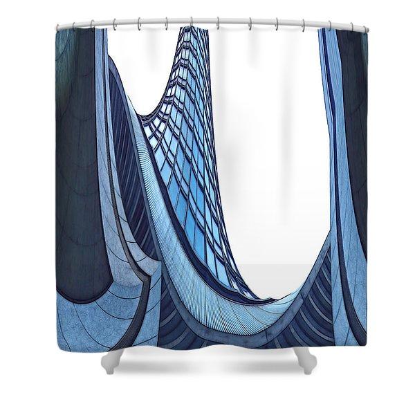 Curves - ArchiFou 42 Shower Curtain by Aimelle