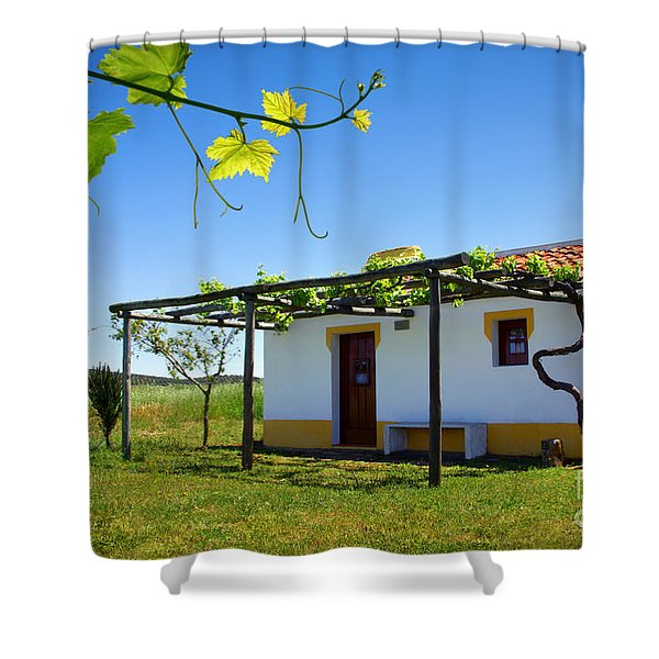 Cute House Shower Curtain by Carlos Caetano