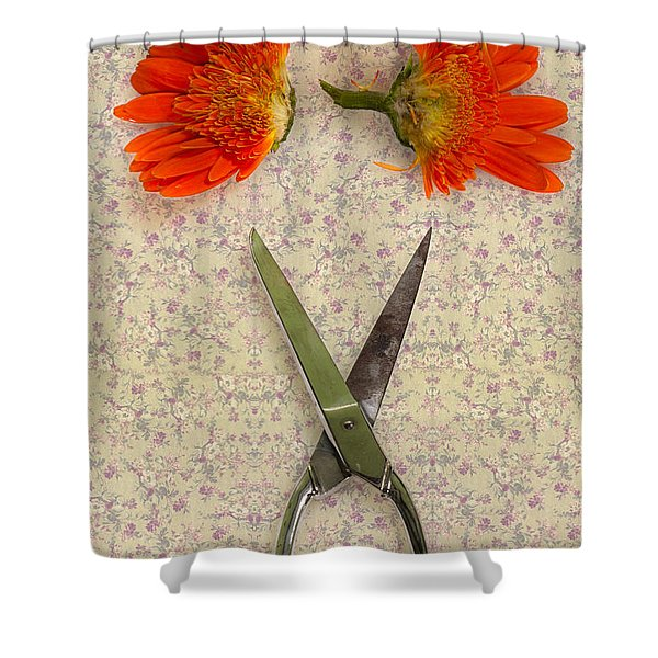 cutting flowers Shower Curtain by Joana Kruse