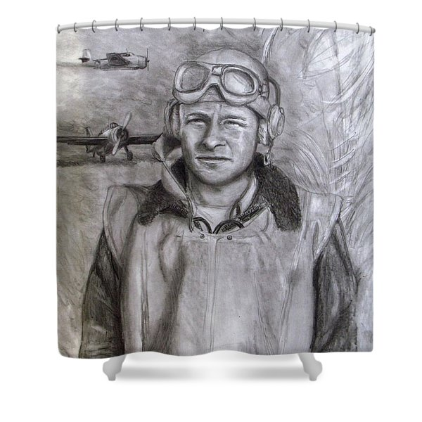 Dad WW2 Shower Curtain by Jack Skinner