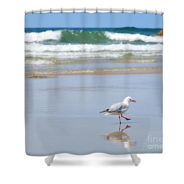 Dancing On The Beach Shower Curtain by Kaye Menner