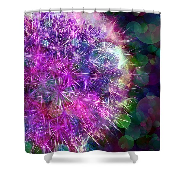 Dandelion Party Shower Curtain by Judi Bagwell