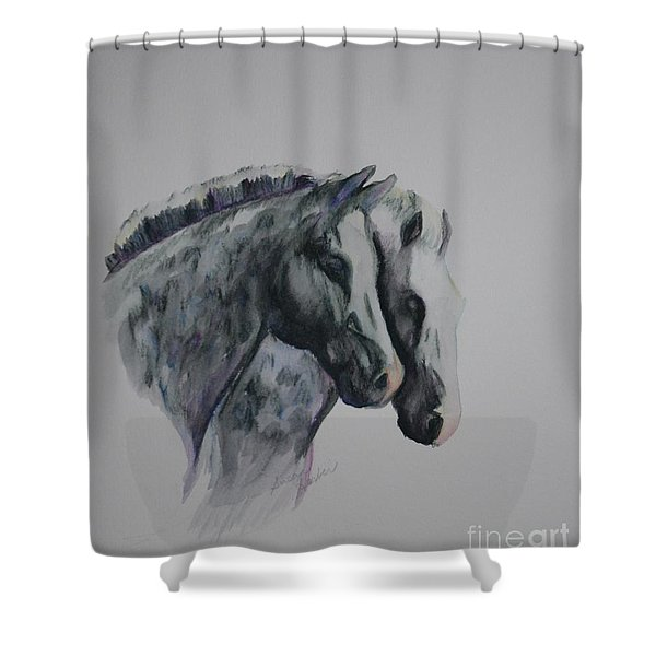 Dapple Duo Shower Curtain by Susan Herber
