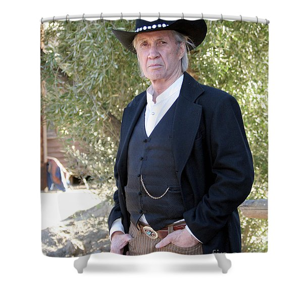 David Carradine Shower Curtain by Nina Prommer