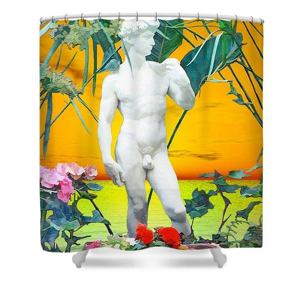 David Shower Curtain by Kurt Van Wagner