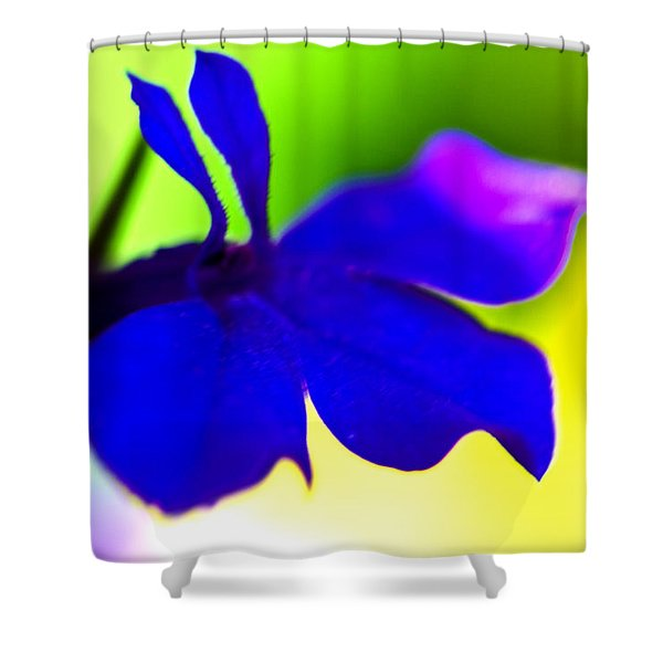 Deeply Blue Shower Curtain by Marie Jamieson