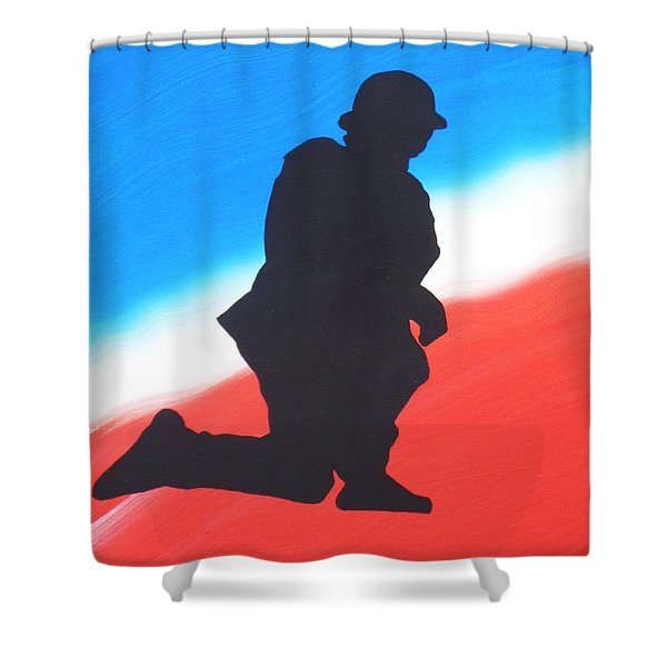 Desert Duty I Shower Curtain by Alys Caviness-Gober