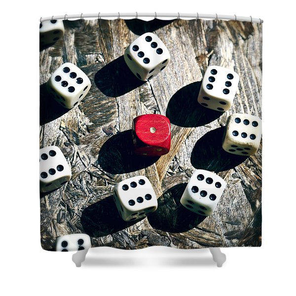 dice Shower Curtain by Joana Kruse