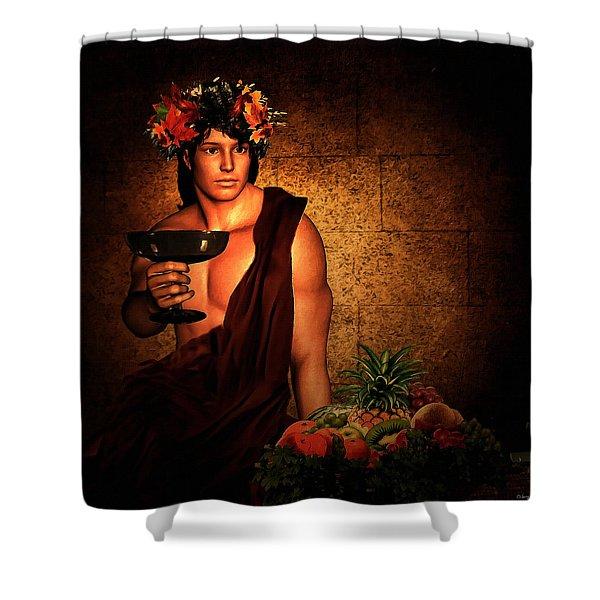 Dionysus Shower Curtain by Lourry Legarde