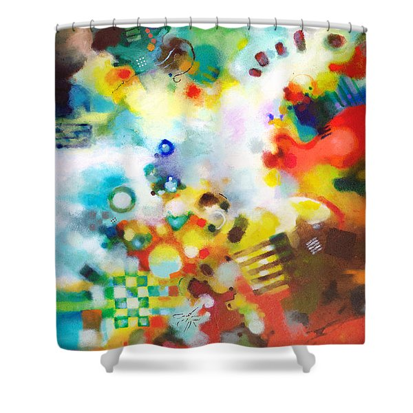 Dissolving Obstacles Shower Curtain by Sally Trace
