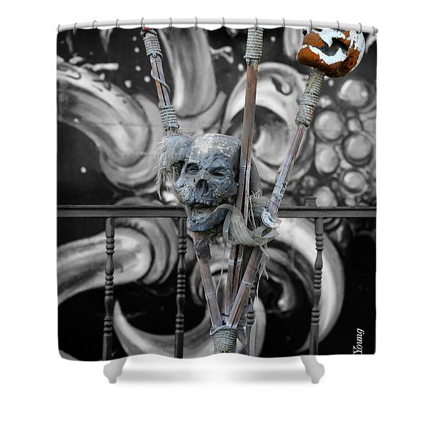Disturbing Shower Curtain by Cheryl Young
