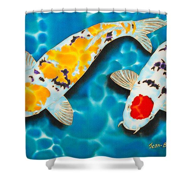Ditsu Koi Shower Curtain by Daniel Jean-Baptiste