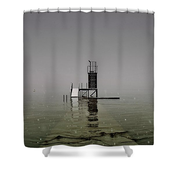 Diving Platform Shower Curtain by Joana Kruse