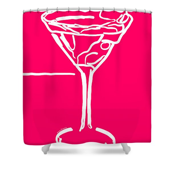 Do Not Panic - Drink Martini - Pink Shower Curtain by Wingsdomain Art and Photography