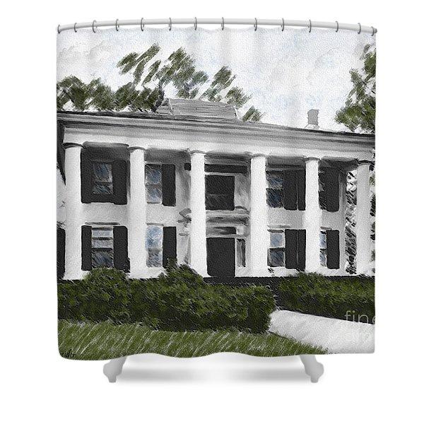 Dodd House Georgia Plantation Shower Curtain by Lianne Schneider