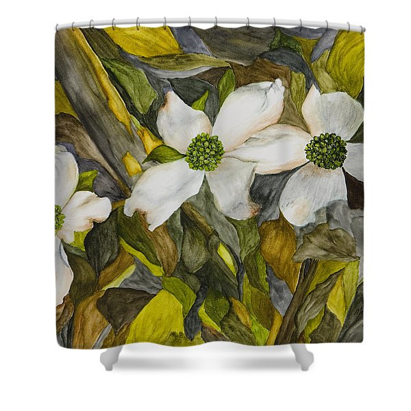 Dogwoods Shower Curtain by Mary Ann King