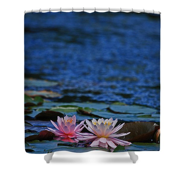Double Lily Shower Curtain by Karol  Livote