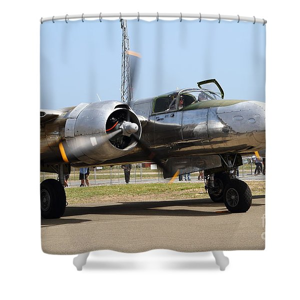 Douglas A26B Military Aircraft 7d15748 Shower Curtain by Wingsdomain Art and Photography