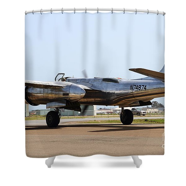 Douglas A26B Military Aircraft 7d15767 Shower Curtain by Wingsdomain Art and Photography