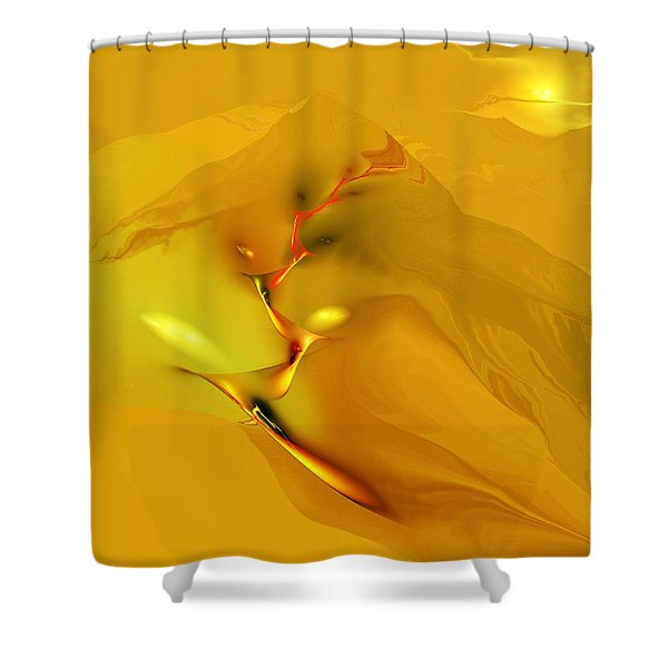 Downhill Racer Shower Curtain by David Lane