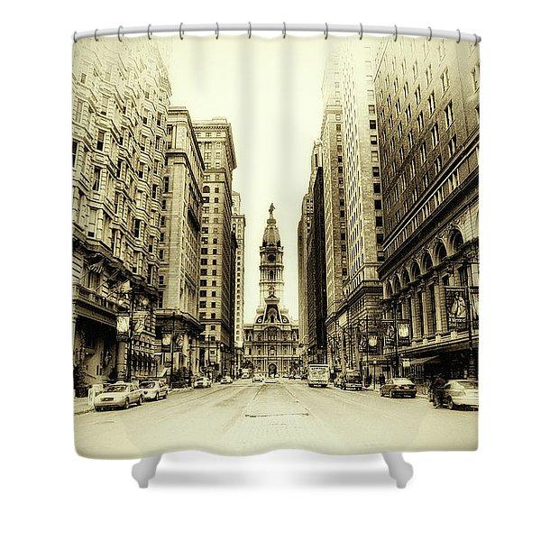 Dreamy Philadelphia Shower Curtain by Bill Cannon