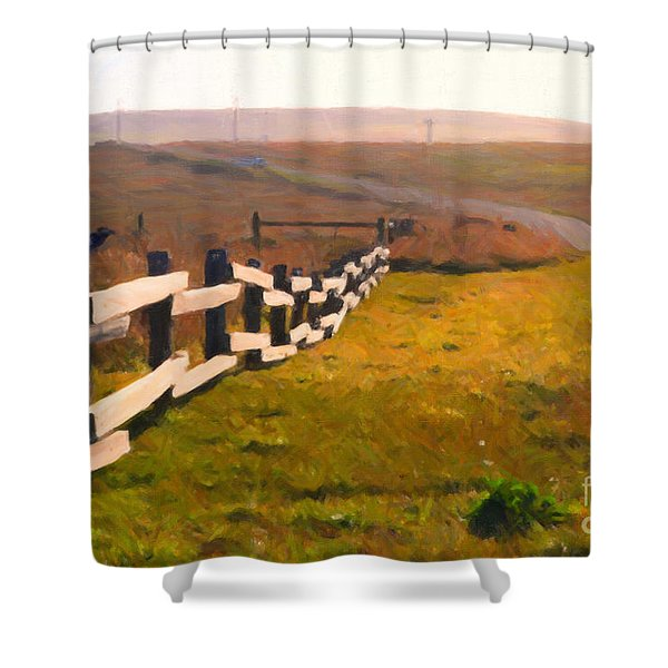 Driving Down The Lonely Highway . Study 1 . Painterly Shower Curtain by Wingsdomain Art and Photography