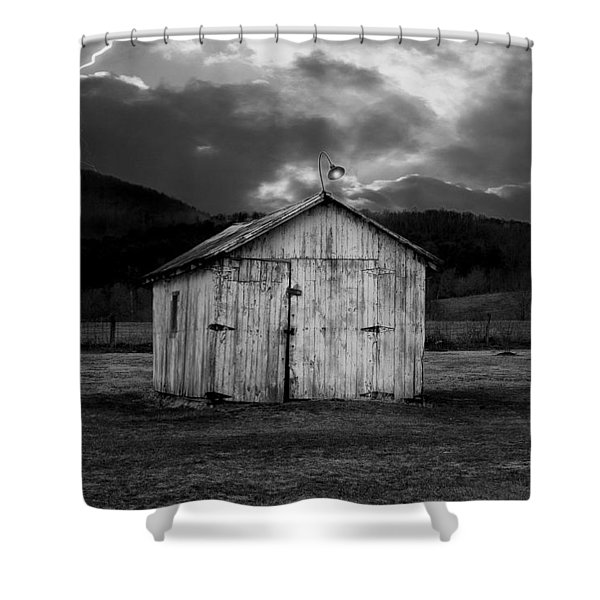 Dry Storm Shower Curtain by Ron Jones