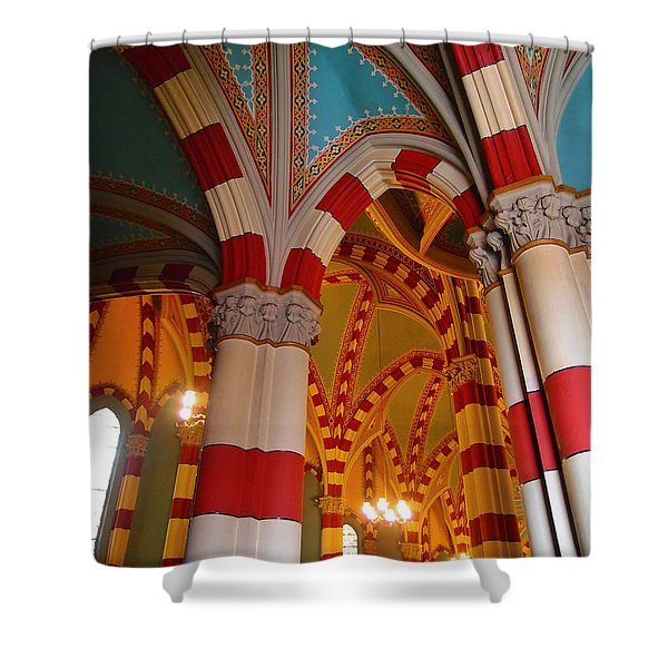 Dulce Iglesia Shower Curtain by Skip Hunt