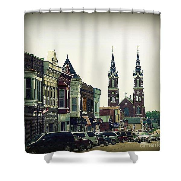 Dyersville in Iowa Shower Curtain by Susanne Van Hulst
