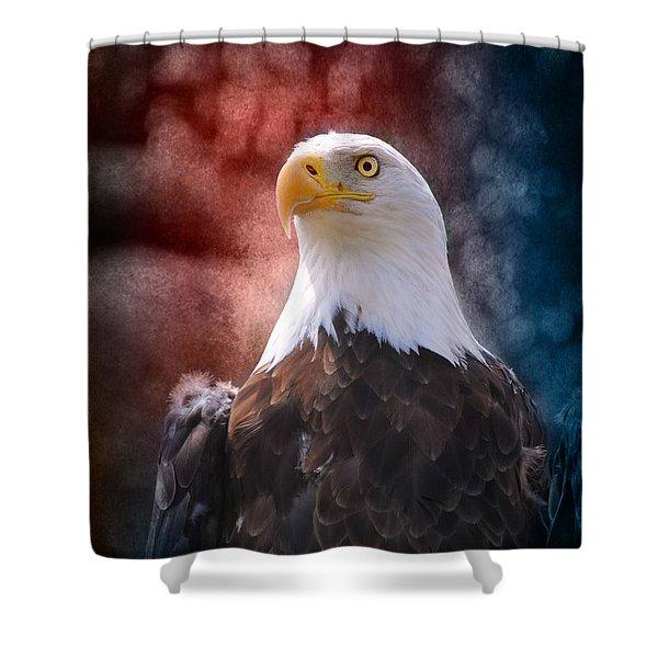Eagle I Shower Curtain by Jai Johnson