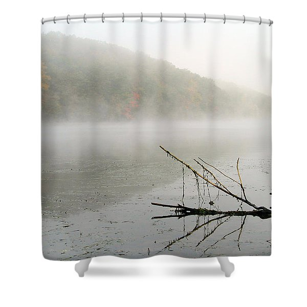 Early Autumn Morn Shower Curtain by Karol  Livote