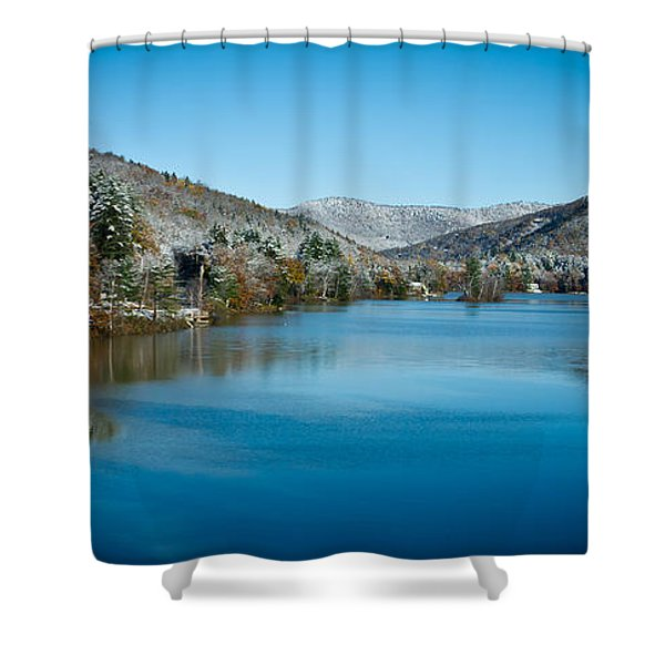 Early Snow in Vermont Shower Curtain by Edward Fielding