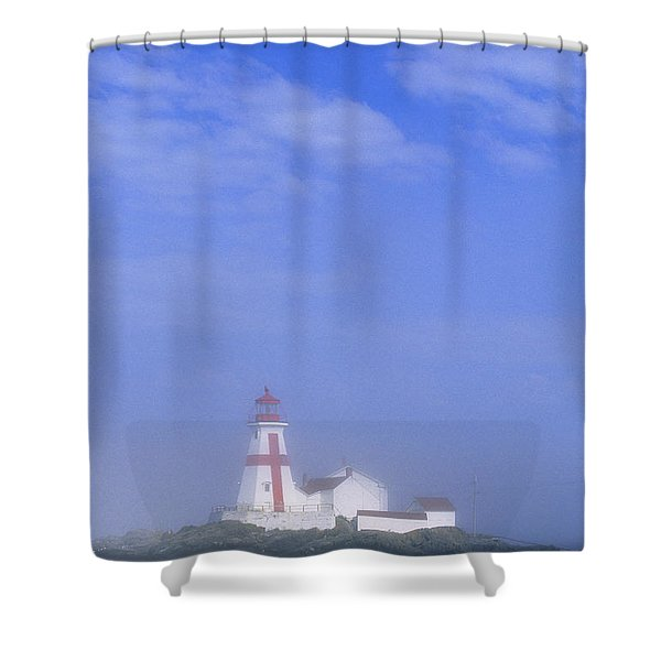 East Quoddy Lighthouse, Campobello Shower Curtain by John Sylvester